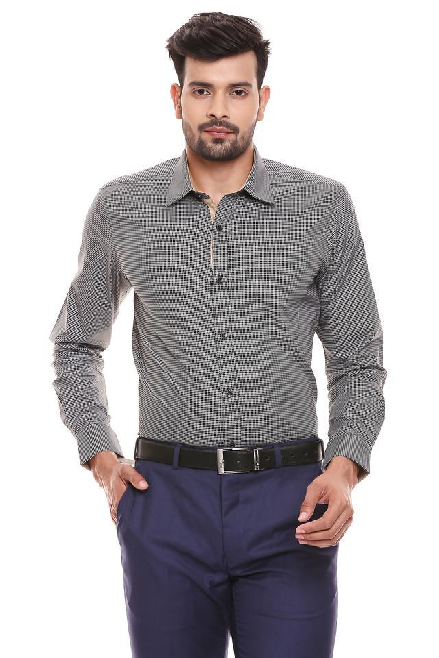 RAYMOND - Dark GreyFormal Shirts - Main