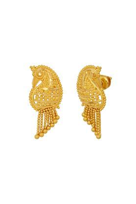Womens Yellow Gold Peacock Stud Earrings GERD16008629