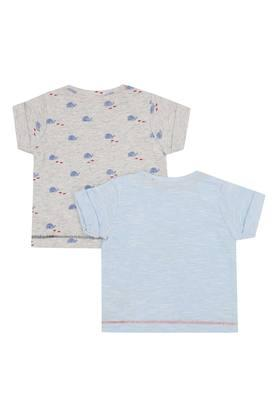 Girls Envelope Neck Printed Tee - Pack of 2