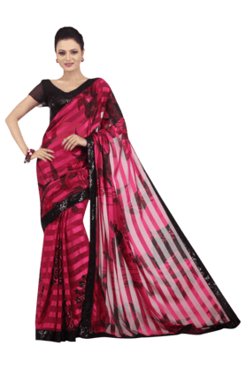 JASHN Womens Printed Saree - 200932256