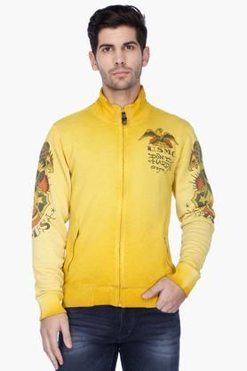 ED HARDY Mens Slim Fit Printed Sweatshirt
