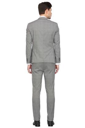 Mens Notched Lapel Checked 2 Piece Suit