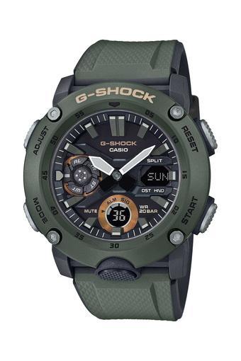 Mens G Shock Black Dial Resin Analogue-Digital Watch - GA-2000-3ADR (G952)