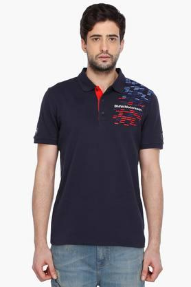 PUMA Mens Short Sleeves Graphic Polo T-Shirt - 201505335