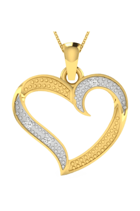 SPARKLESHis & Her Collection 18 Kt Pendant In Gold & Real Diamond HHP10055