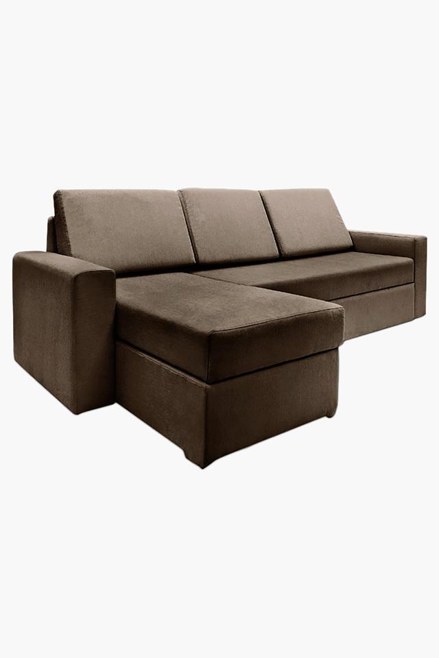Stoa Paris Wheat Brown Fabric, Brown Cloth Sofa Bed