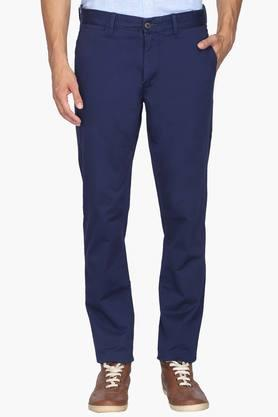 U.S. POLO ASSN. Mens Slim Fit 5 Pocket Solid Chinos - 201922518