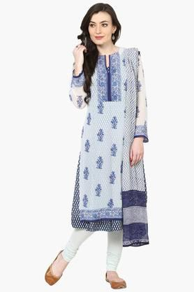 BIBA Womens Poly Cotton Straight Suit Set - 202179830