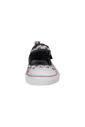 Girls Daily Wear Velcro Closure Canvas Ballerina Shoe