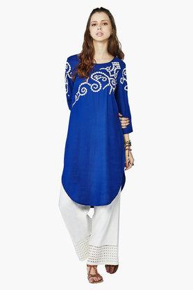 AND Womens Embroidered Kurta