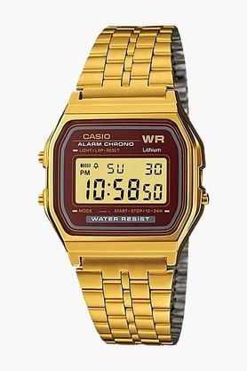 CASIO Vintage Collection Mens Stainless Steel Digital Watch - A159WGEA-5DF (D130)