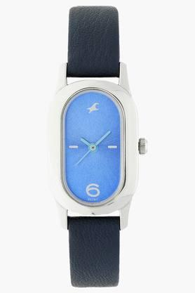 FASTRACKWomens Blue Dial Leather Strap Watch