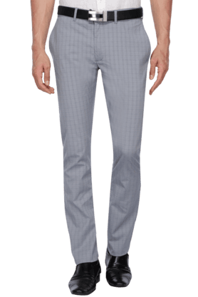 BLACKBERRYS Mens Slim Fit Check Formal Trousers