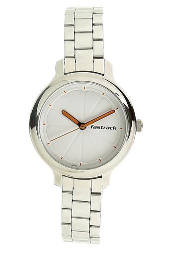 Womens White Dial Metallic Analogue Watch - 6202SM02