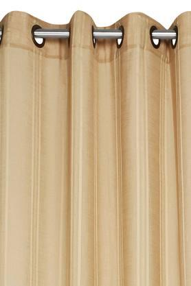 Stripe Sheer Antique Brass Eyelet Door Curtains