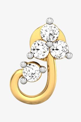 VELVETCASEWomens 18 Karat Yellow Gold Nose Ring (Free Diamond Pendant) - 201065070