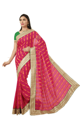 DEMARCA Womens Crepe Jacquard Saree (Buy Any Demarca Product & Get A Pair Of Matching Earrings Free)