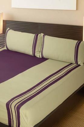 Plum Green Cilantro King Bed Sheet Set (Bedsheet Set (King XL)