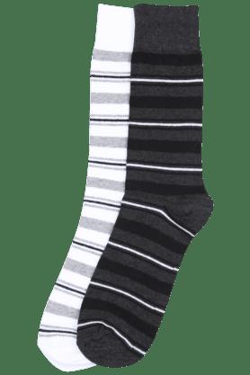 STOPMen Striped Crew-length Socks (Set Of 2)