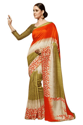 DEMARCA Women Art Silk Saree (Buy Any Demarca Product & Get A Pair Of Matching Earrings Free) - 200875566