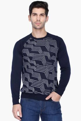 UNITED COLORS OF BENETTON Mens Regular Fit Printed Sweater