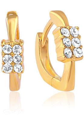 MAHIMahi Gold Plated Lush Shine Earrings With Crystals For Women ER1100224G