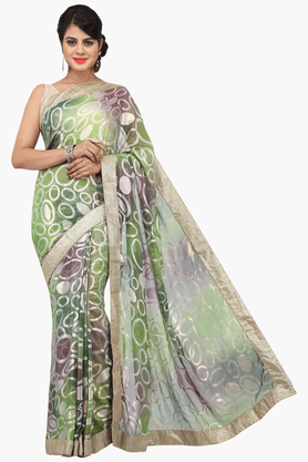 JASHN Womens Printed Saree With Blouse Piece - 201313002