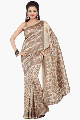 JASHN Womens Printed Saree With Blouse Piece - 201313058