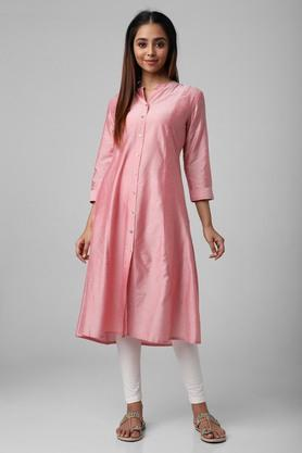 Womens Regular Fit Solid Kurta