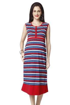 NINE MATERNITYMulticolour Stripes Nursing Dress