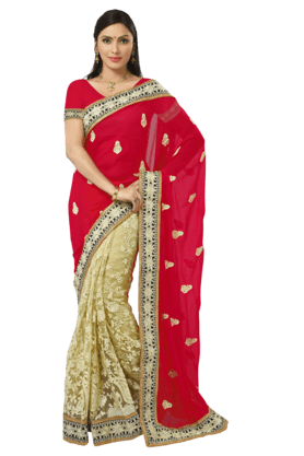 DEMARCA Womens Embroidered Saree - 201021334