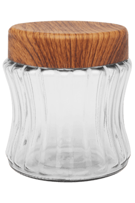 IVY Glass Canister With Plastic Lid - Small