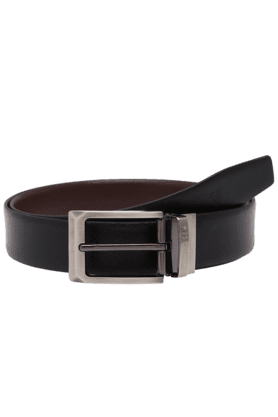 VAN HEUSEN Mens Black Mix Formal Leather Belt