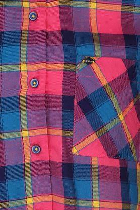 Girls Checked Tie Up Shirt