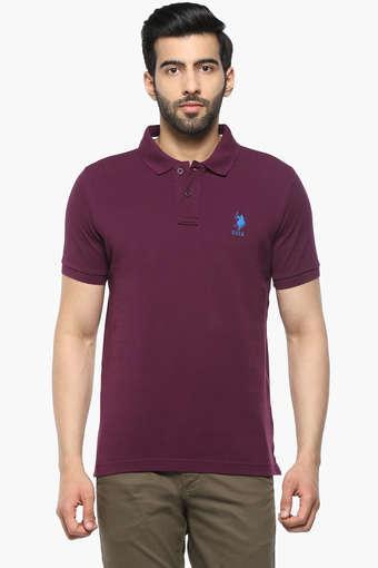 U.S. POLO ASSN. -  PlumT-Shirts & Polos - Main