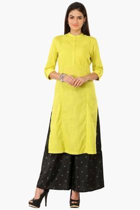 WWomen Formal Buttoned Cotton Kurta - 202152483