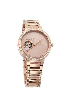 Womens Stellar Rose Gold Dial Automatic Watch - NK95084WM01