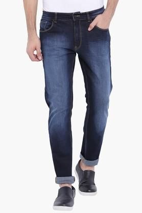 BLUE SAINT Mens Navy Washed Slim Fit Jeans - 201778259