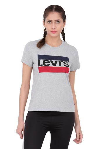 LEVIS -  Grey Melange Tops & Tees - Main