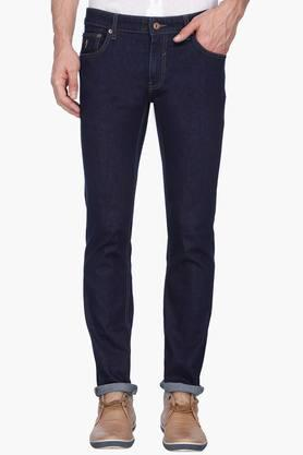 INDIAN TERRAIN Mens Slim Fit Rinse Wash Jeans