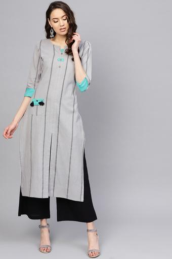 VARANGA -  Grey Kurtas - Main