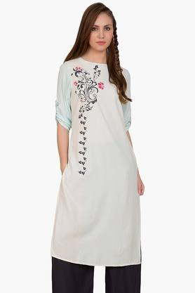 DESI BELLE Womens Printed Round Neck Kurta - 201829000