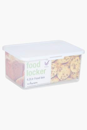 WHATMORE Airtight Food Storage Box With Lid - 4.2 Lts