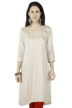 KASHISH Women Cotton Solid Kurta