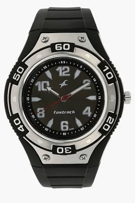 FASTRACKMens Black Dial Analogue Watch