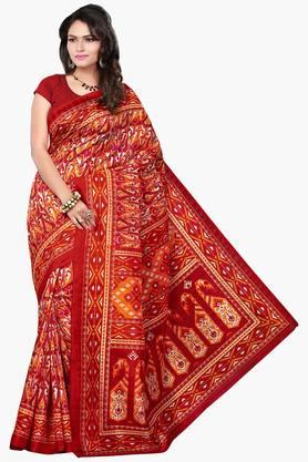 Women Bhagalpuri Art Silk Paisely Printed Saree