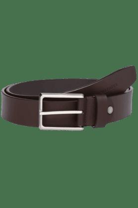 TOMMY HILFIGERMens Claymont Leather Formal Belt