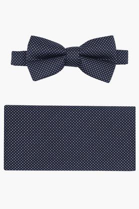 Mens Blended Printed Bow Tie with Pocket Square