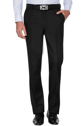 WILLS LIFESTYLE Mens Slim Fit Solid Formal Trousers - 201020519