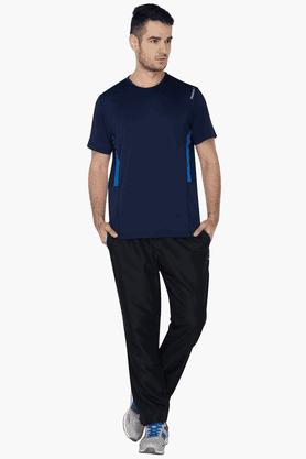 Mens Regular Fit 2 Pocket Solid Track Pant
